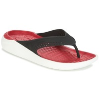 Sko Flip flops Crocs LITERIDE FLIP Sort / Rød