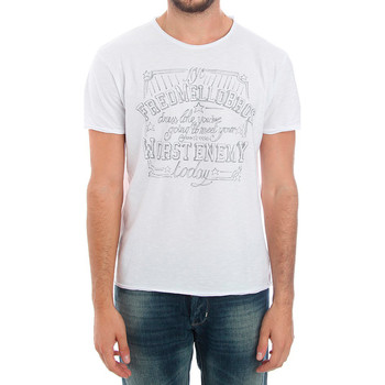 textil Herre T-shirts m. korte ærmer Fred Mello FMCLA99TG_BIANCO Blanco