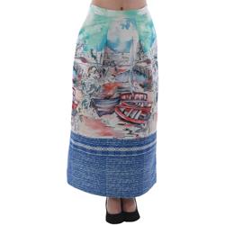 textil Dame Nederdele Rinascimento 4004/16_CELESTE Estampado