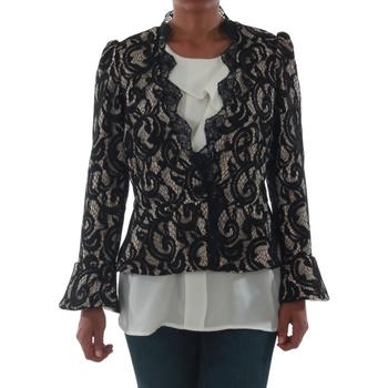 textil Dame Jakker / Blazere Rinascimento 7643_BEIGE Negro