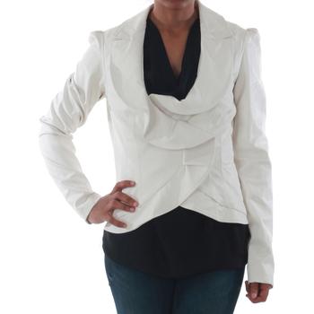 textil Dame Jakker / Blazere Rinascimento 7690_BIANCO Blanco