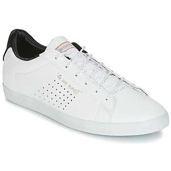 Sko Dame Lave sneakers Le Coq Sportif AGATE LO S LEA/SATIN Hvid / Sort