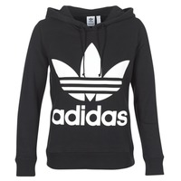 textil Dame Sweatshirts adidas Originals TREFOIL HOODIE Sort