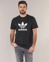 textil Herre T-shirts m. korte ærmer adidas Originals TREFOIL T SHIRT Sort