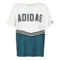 textil Dame T-shirts m. korte ærmer adidas Originals ADIBREAK SS TEE Hvid / Marineblå