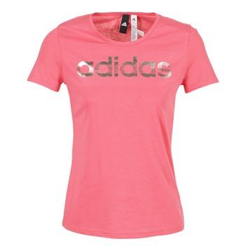 textil Dame T-shirts m. korte ærmer adidas Performance FOIL LINEAR Pink