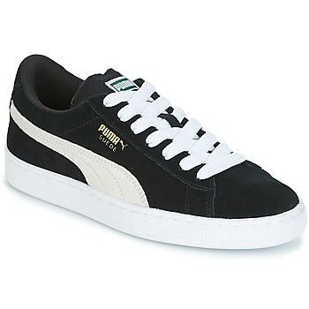 Sko Børn Lave sneakers Puma SUEDE JR Sort / Hvid