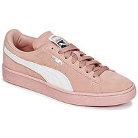 Sko Dame Lave sneakers Puma SUEDE CLASSIC W'S Pink / Hvid