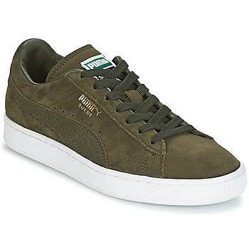 Sko Lave sneakers Puma SUEDE CLASSIC + Kaki / Hvid