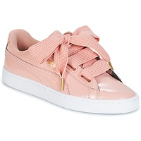 Sko Dame Lave sneakers Puma BASKET HEART PATENT W'S Pink