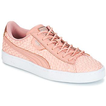 Sko Dame Lave sneakers Puma BASKET SATIN EP WN'S Pink