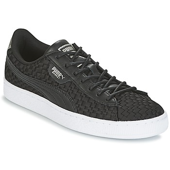 Sko Dame Lave sneakers Puma BASKET SATIN EP WN'S Sort