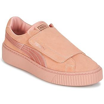 Sko Dame Lave sneakers Puma PLATFORMSTRAP SATIN EP W'S Pink