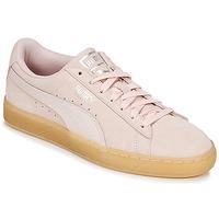 Sko Dame Lave sneakers Puma SUEDE CLASSIC BUBBLE W'S Pink