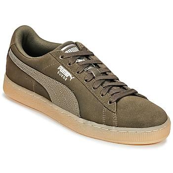 Sko Dame Lave sneakers Puma SUEDE CLASSIC BUBBLE W'S Kaki