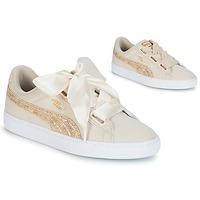 Sko Dame Lave sneakers Puma BASKET HEART CANVAS W'S Beige