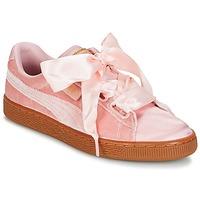Sko Dame Lave sneakers Puma BASKET HEART VS W'N Pink
