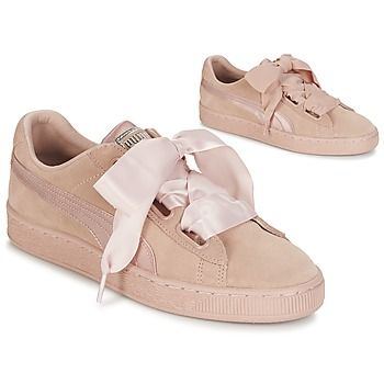 Sko Dame Lave sneakers Puma W SUEDE HEART EP Pink