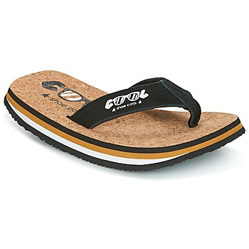 Sko Herre Flip flops Cool shoe ORIGINAL Sort / Kamel