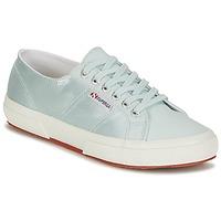 Sko Dame Lave sneakers Superga 2750 SATIN W Blå / Sølv