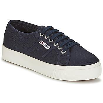 Sko Dame Lave sneakers Superga 2730 COTU Marineblå / Hvid
