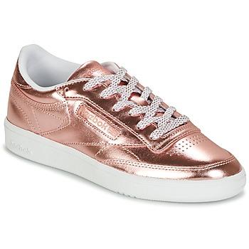 Sko Dame Lave sneakers Reebok Classic CLUB C 85 S SHINE Pink / Metal