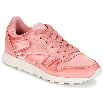 Sko Dame Lave sneakers Reebok Classic CLASSIC LEATHER SATIN Pink