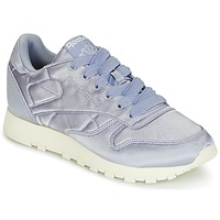 Sko Dame Lave sneakers Reebok Classic CLASSIC LEATHER SATIN Violet