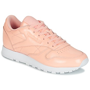 Sko Dame Lave sneakers Reebok Classic CLASSIC LEATHER PATENT Pink