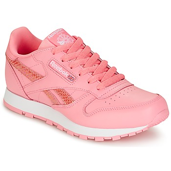 Sko Pige Lave sneakers Reebok Classic CLASSIC LEATHER SPRING Pink
