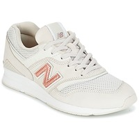 Sko Dame Lave sneakers New Balance WL697 Beige