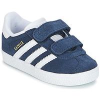 Sko Dreng Lave sneakers adidas Originals GAZELLE CF I Marineblå