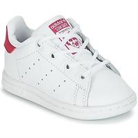Sko Pige Lave sneakers adidas Originals STAN SMITH I Hvid / Pink