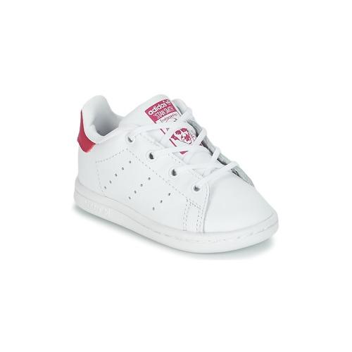6981e1c8 adidas Originals STAN SMITH I Hvid / Pink - Gratis fragt | Spartoo ...
