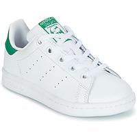 Sko Børn Lave sneakers adidas Originals STAN SMITH C Hvid / Grøn