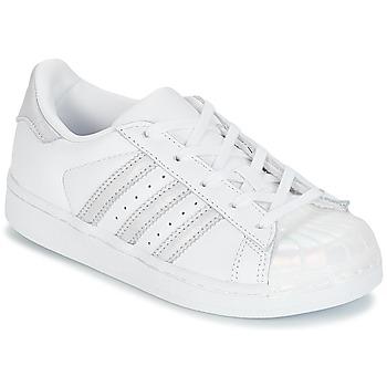 Sko Pige Lave sneakers adidas Originals STAN SMITH C Hvid / Sølv