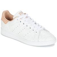 Sko Dame Lave sneakers adidas Originals STAN SMITH W Hvid / Pink