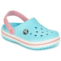 Sko Pige Træsko Crocs Crocband Clog Kids Blå / Pink