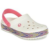 Sko Dame Træsko Crocs CROCBAND GALLERY CLOG Hvid / Pink