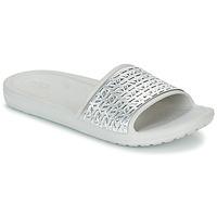 Sko Dame badesandaler Crocs SLOANE GRAPHIC ETCHED SLIDE W Hvid / Sølv
