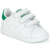 Sko Børn Lave sneakers adidas Originals STAN SMITH CF I Hvid / Grøn