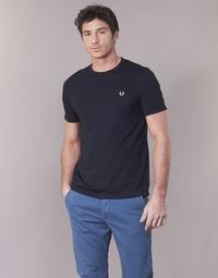 textil Herre T-shirts m. korte ærmer Fred Perry RINGER T-SHIRT Marineblå