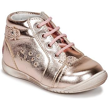 Sko Pige Høje sneakers GBB SIDONIE Pink / Gylden