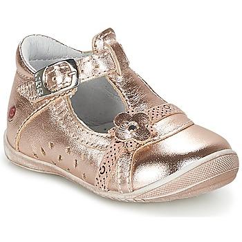 Sko Pige Ballerinaer GBB SIXTINE Pink / Gylden