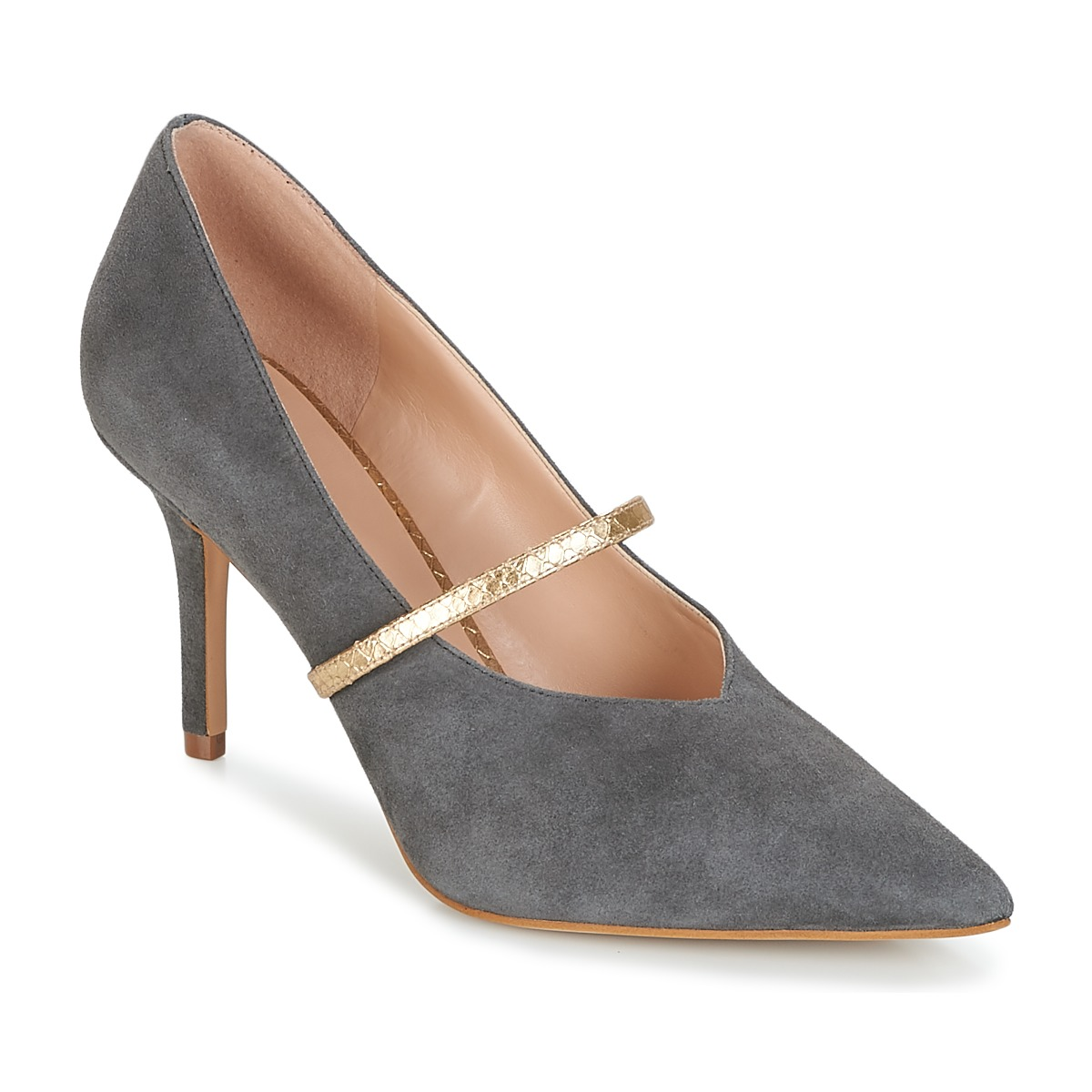 Pumps KG by Kurt Geiger  V-CUT-MID-COURT-WITH-STRAP-GREY