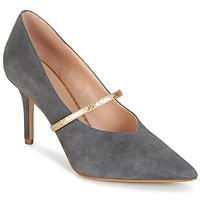 Sko Dame Pumps KG by Kurt Geiger V-CUT-MID-COURT-WITH-STRAP-GREY Grå