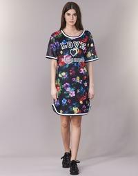 textil Dame Korte kjoler Love Moschino W5A0302 Sort / Flerfarvet