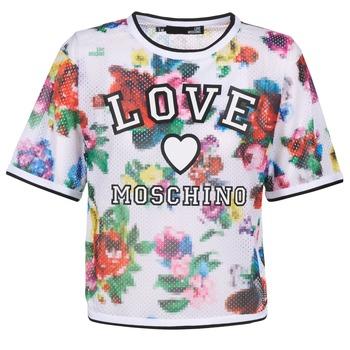 textil Dame Toppe / Bluser Love Moschino W4G2801 Hvid / Flerfarvet