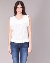 textil Dame Toppe / Bluser See U Soon 8111036 Hvid