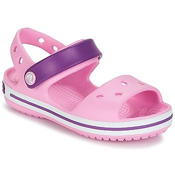 Sko Pige Sandaler Crocs CROCBAND SANDAL Nellike / Pink / Purple